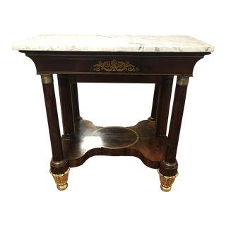 Pennsylvania Marble-Top Pier Table, 1820s