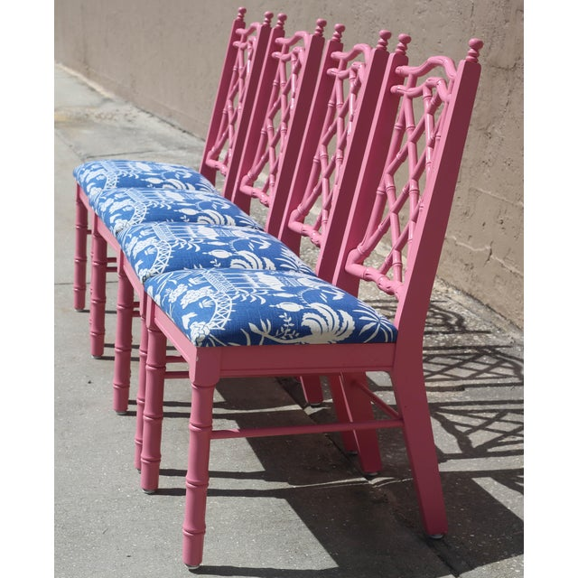 Vintage Faux Bamboo Dining Chairs - Set of 4 For Sale In Tampa - Image 6 of 13
