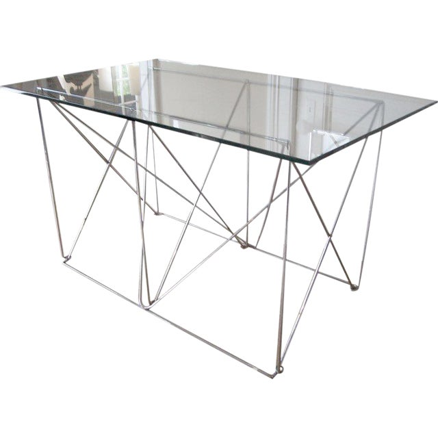 Architectural Steel Base Table For Sale