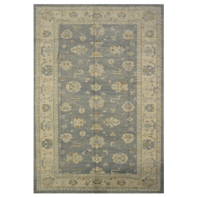 Turkish Wool Oushak Rug- 8'4''x14'2'' For Sale