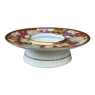 1970s Japanese Porcelain Pedestal Dish For Sale