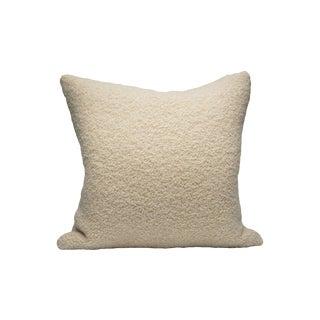 Scalamandre Mouton Pillow, White For Sale