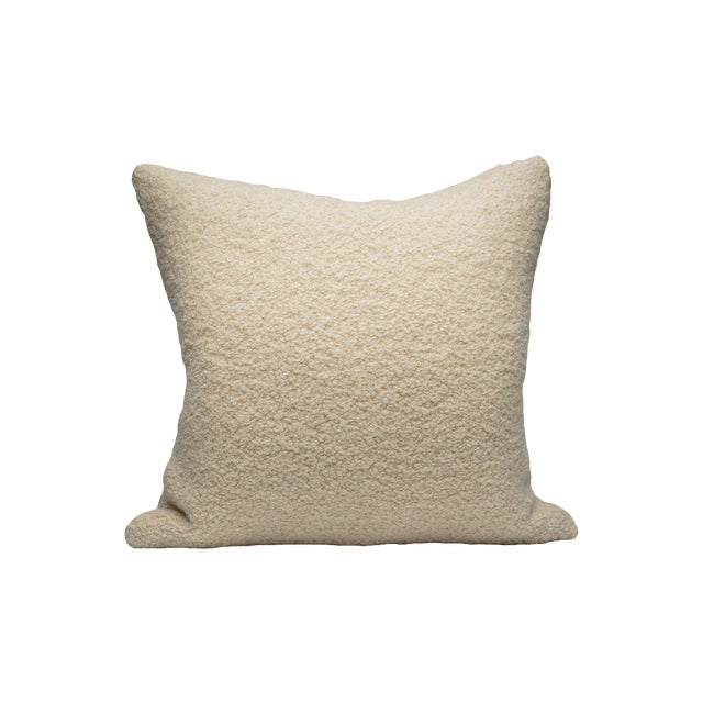 Scalamandre Mouton Pillow, White For Sale