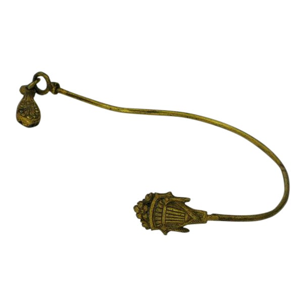 French Gilt Art Deco Curtain Tie Back For Sale