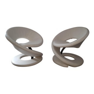 Louis Durot Spiral Lounge Chairs - A Pair