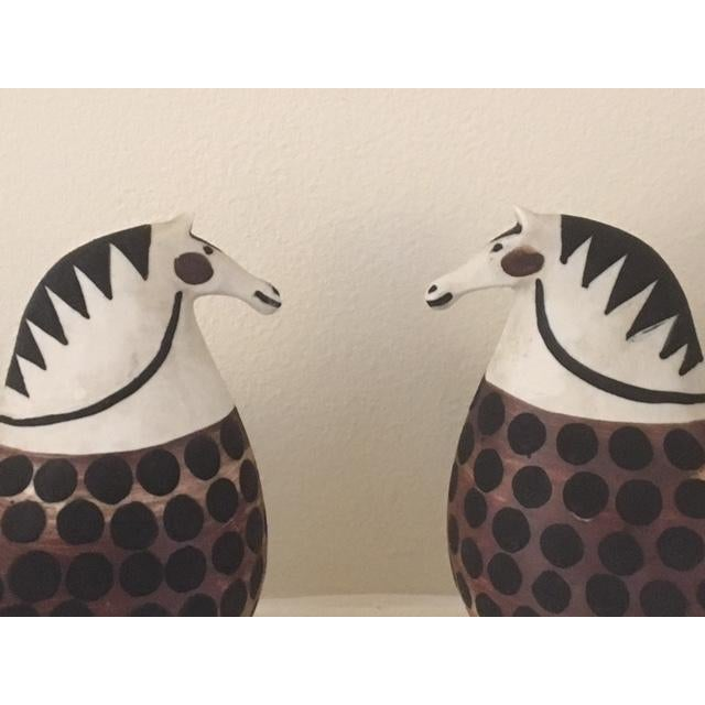 Stig Lindberg Stoneware Horses - A Pair For Sale - Image 5 of 5