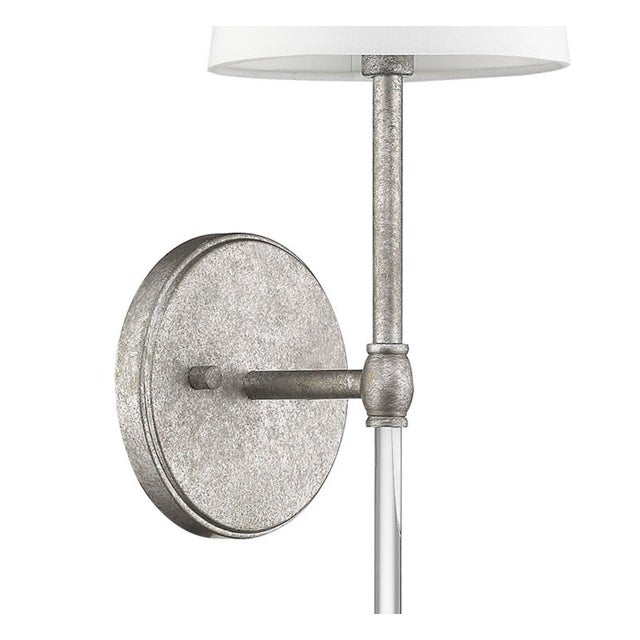 A classic and refined silhouette done in a beautiful finish makes this a timeless and chic sconce,. Takes 60 bulb.