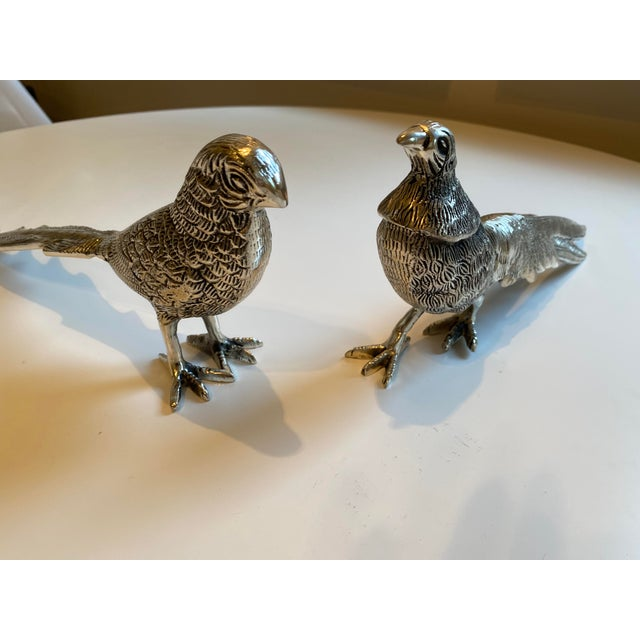 American Birds Silver Figurines - A Pair For Sale - Image 3 of 7