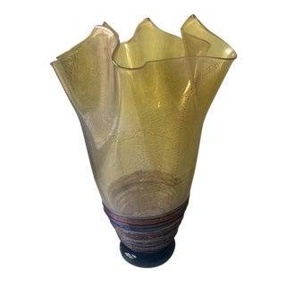 Murano Fazzoletto Vase, Signed