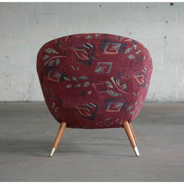 Red 1960's Italian Lounge Chair in the Style of Gio Ponti Ca. For Sale - Image 8 of 13