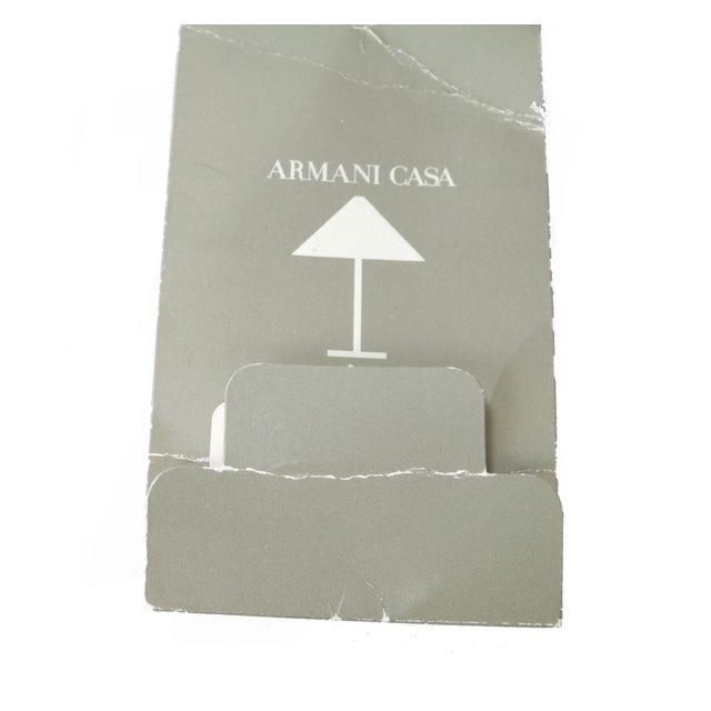 Tan Original Armani Casa Leather Pillow For Sale - Image 8 of 8