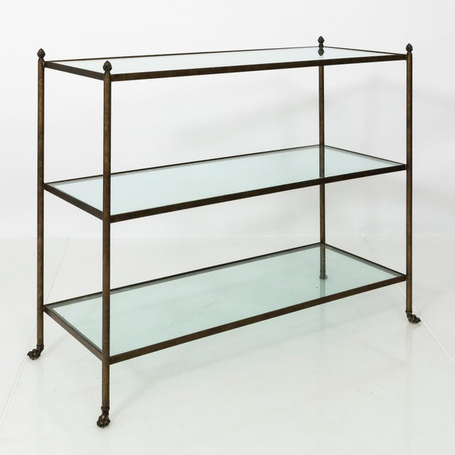 Pair of 1980s Three-Tier Glass Etageres For Sale In New York - Image 6 of 13