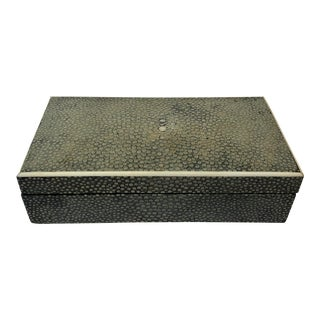 1920s Vintage Asprey & Co. English Art Deco Shagreen Box For Sale