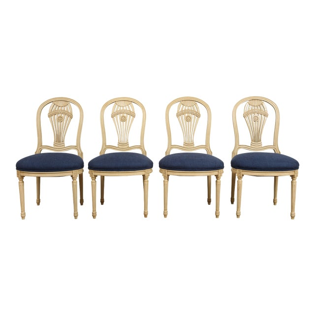 1940s Vintage Balloon Back Chairs- Set of 4 For Sale