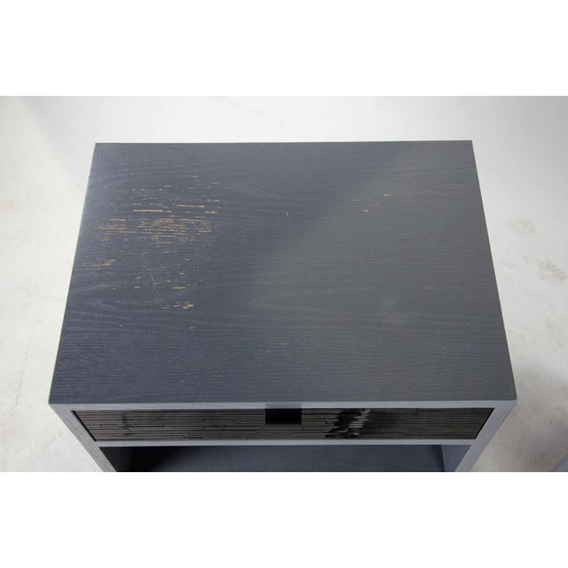 1980s Mid-Century Modern Black Glass Tile Side Tables - a Pair For Sale In Atlanta - Image 6 of 13