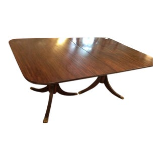 Mahogany Regency Pedestal Dining Table