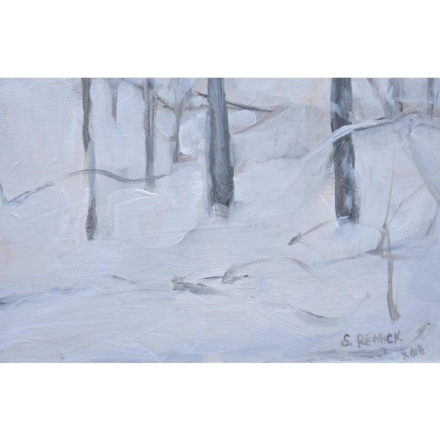 "Stephen Remick Modern ""Snow Squall"" Contemporary Painting by Stephen Remick For Sale - Image 4 of 7"