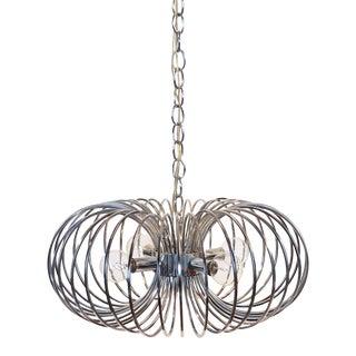 """Gaetano Sciolari """"Cage"""" pendant lamp by Lightolier For Sale"""