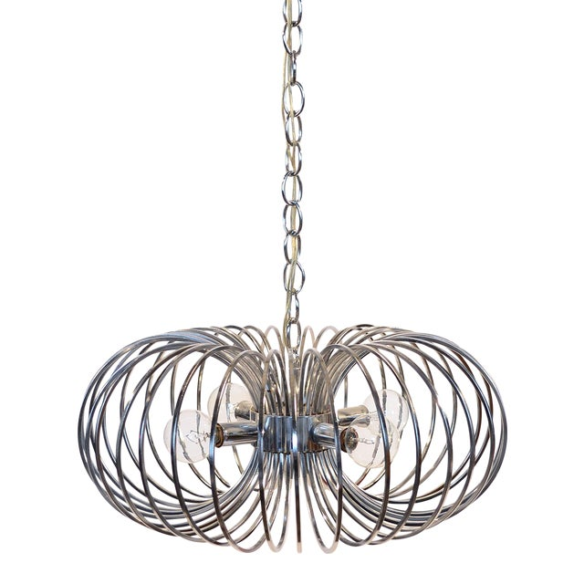 "Gaetano Sciolari ""Cage"" pendant lamp by Lightolier For Sale"