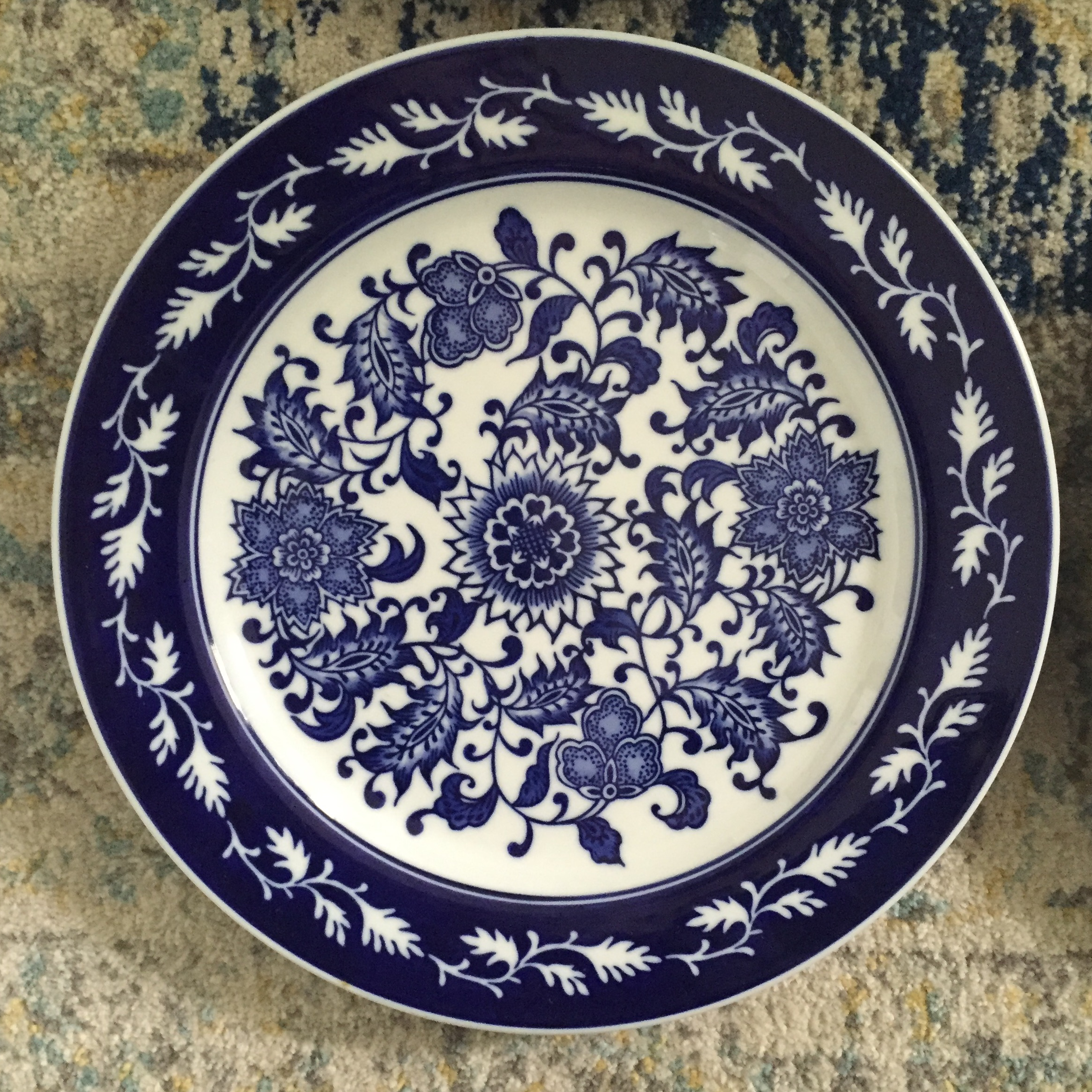 Chinoiserie Blue \u0026 White Bombay Asian Garden China Plates - Set of 4 - Image 6 & Chinoiserie Blue \u0026 White Bombay Asian Garden China Plates - Set of 4 ...