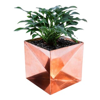 "Origami Planter - Copper 20"" For Sale"