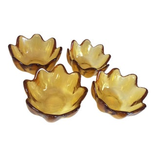 1960s Mid-Century Modern Blenko Jonquil Bowls - Set of 4 For Sale