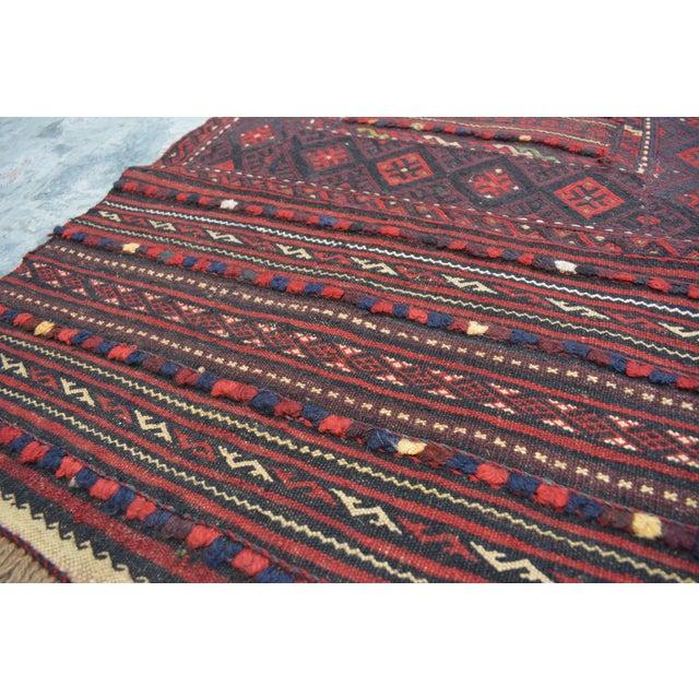 "2010s Afghan Soumak Tribal Kilim Runner-2'3'x9'11"" For Sale - Image 5 of 11"