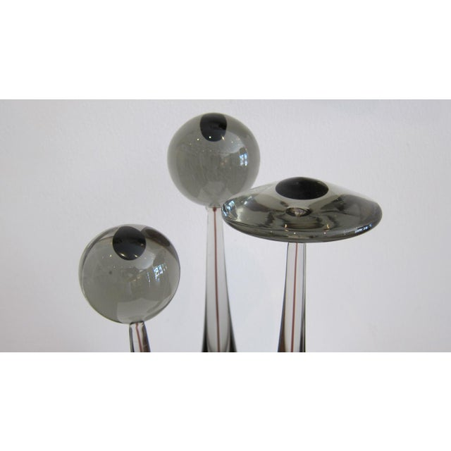 """Abstract """"Elementi Lagunari"""" Sommerso Glass Sculptures For Sale - Image 3 of 9"""