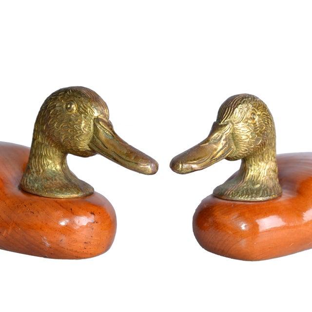 Brass & Mahogany Mallard Ducks - A Pair - Image 5 of 10