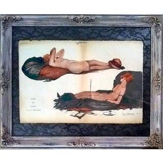 """j.c. Bellaigue 1920 """"Cosse De Cosse"""" Le Sourire Print For Sale"""