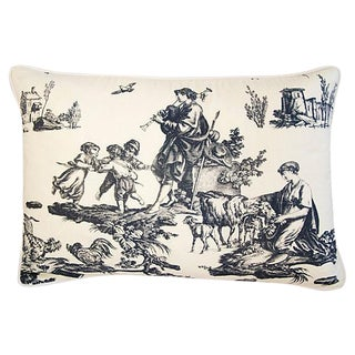 Custom Designer French Countryside Toile Pillow