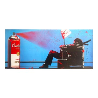 "Mr. Brainwash "" Spray "" Limited Release Authentic Lithograph Print Pop Art Poster For Sale"