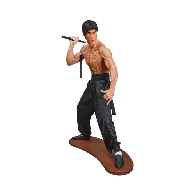 Bruce Lee Kung Fu Fighter Vintage Life Size Statue For Sale