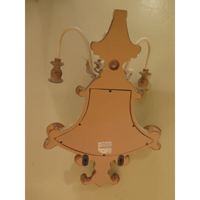 Traditional Ethan Allen Venetian Mirrored Wall Sconces - a Pair For Sale - Image 3 of 11