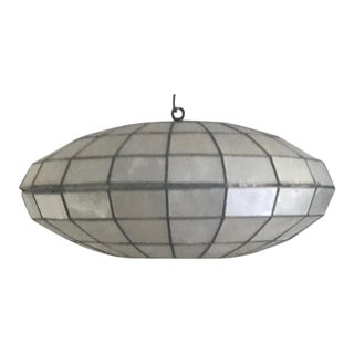 Vintage Capiz Shell Pendant Light For Sale