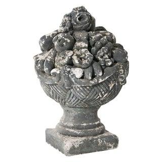 1920s French Cast Stone Cornucopia For Sale