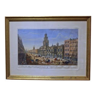 "1974 ""A View of the Royal Exchange, London"" Print For Sale"