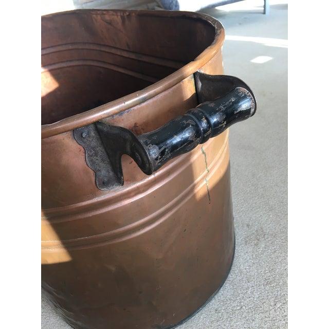 Vintage Copper Boiler Wash Tub Basin For Sale - Image 5 of 10