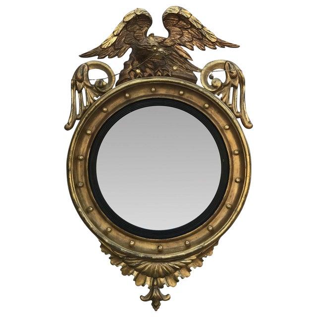 Gilded Bullseye Mirror For Sale
