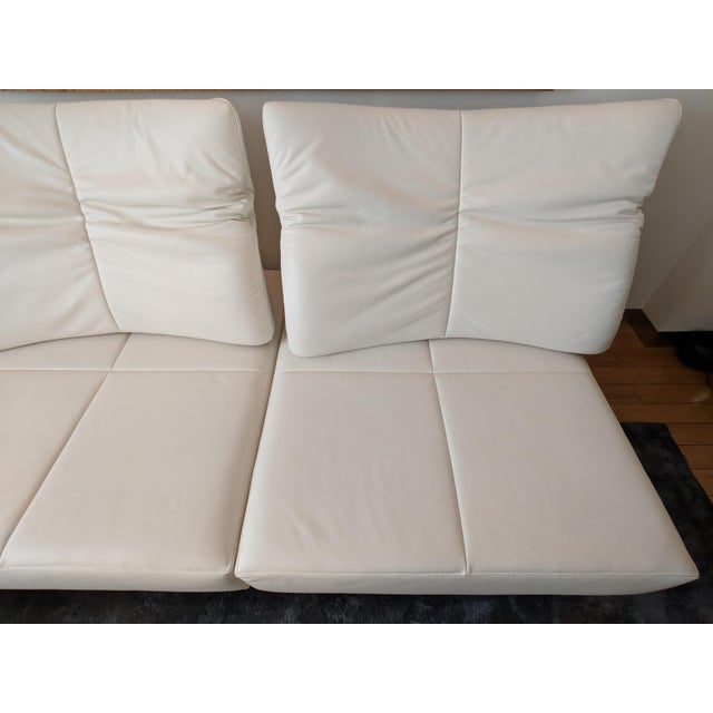 De Sede White Leather L-Shaped Sectional For Sale In New York - Image 6 of 11
