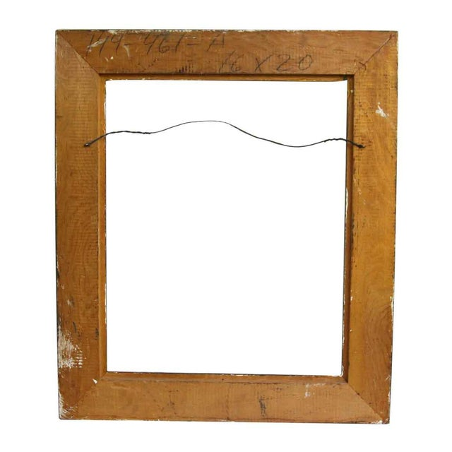 Traditional Two Tone Carved Wood Frame For Sale - Image 3 of 4
