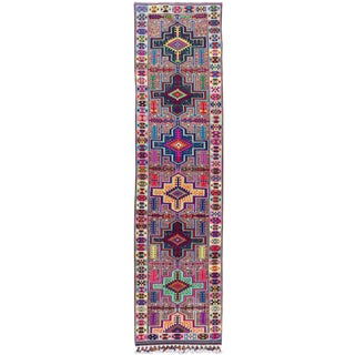 Mid-20th Century Colorful Vintage Turkish Wool Runner Rug 3 X 13 For Sale