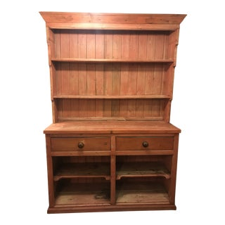 1920s Vintage Welsh English Pine Cupboard For Sale