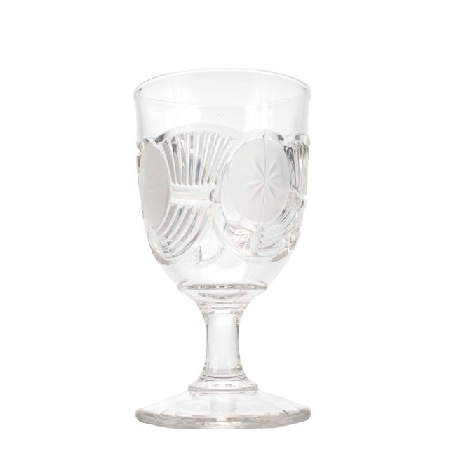 Victorian Victorian Blown Crystal Goblets by the Bryce Brothers Company Circa 1890s, Set of 6 For Sale - Image 3 of 6
