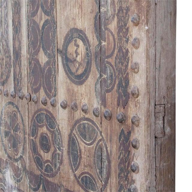 Iron 19th Century Tribal Cedar Door For Sale - Image 7 of 8