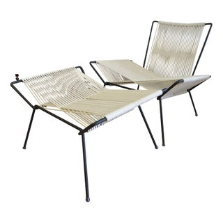 Vintage X Patio Chairs with Ottoman - A Pair For Sale