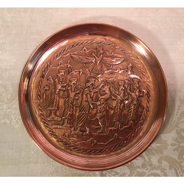 Mid-Century Hanging Etched Copper Plate For Sale In Dallas - Image 6 of 7