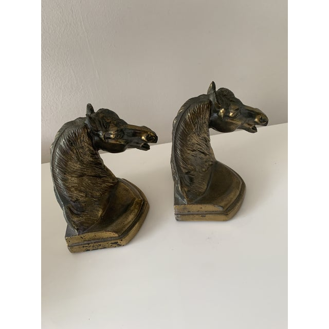 Vintage Equestrian Horse Bookends- a Pair For Sale - Image 4 of 10