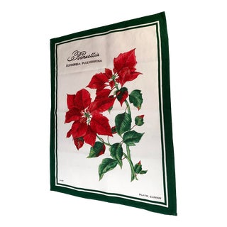 Vintage William Sonoma Poinsettia Hand Towel For Sale