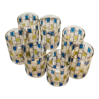 Mid-Century Modern Cocktail Tumblers - Set of 7 For Sale